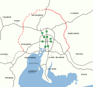Tōkai-Kanjō Expressway road in Aichi Prefecture, Gifu Prefecture and Mie Prefecture in Japan