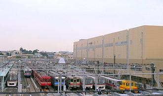Nishi-magome Station - Magome rail yard