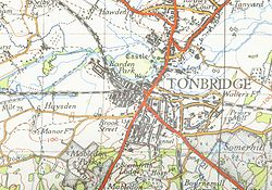 A map of Tonbridge from 1946