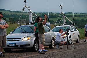 TWISTEX - Two of the TWISTEX mesonet vehicles, M1 and M2.
