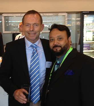 Alston Koch - Image: Tony Abbott with Alston Koch