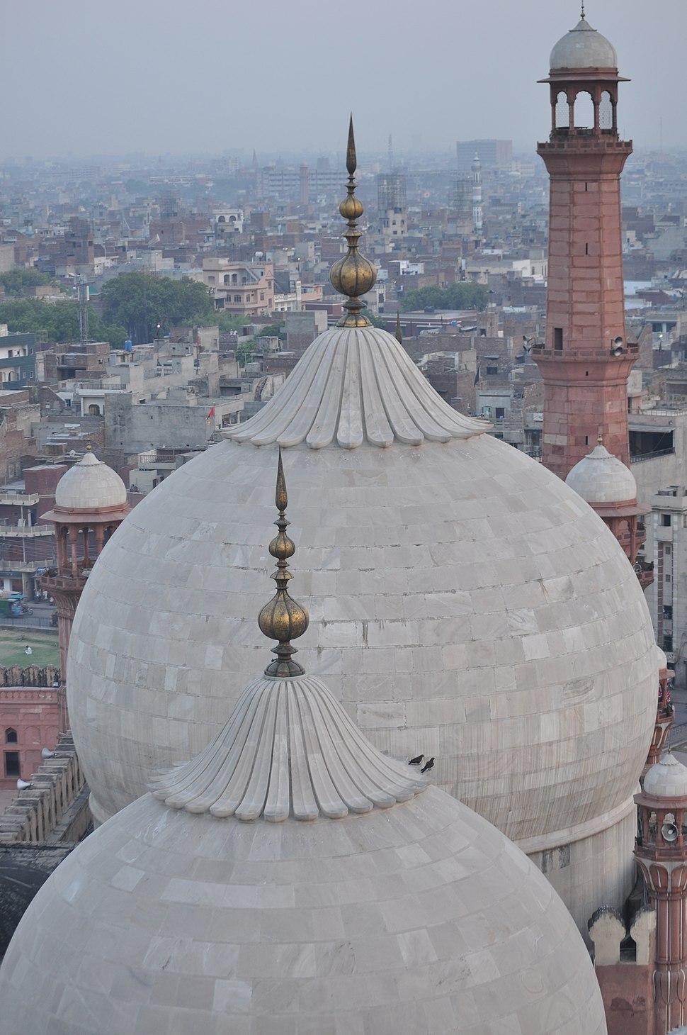 Top view Badshahi Masjid