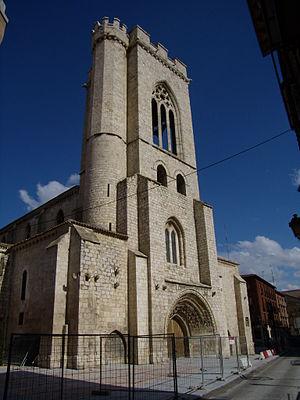 Torre de la Iglesia de San Miguel en Palencia.