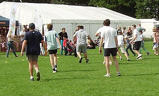 Touch rugby games derived from rugby football in which players touch, rather than tackle, their opponents