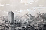Tower and ruins of Rhey Yezid by Eugène Flandin.jpg