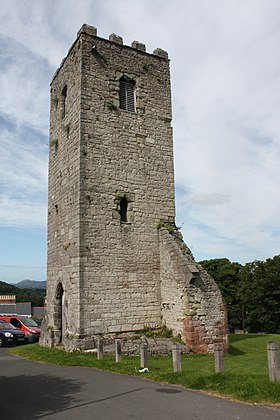 Tower of St Hilary's Church, Denbigh (8199394743).jpg