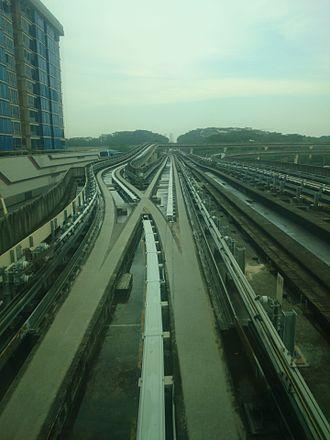 Junction (rail) - Junction in track of Singapore LRT