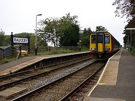 Train at Rauceby railway station in 2008.jpg