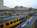 Train station Groningen Netherlands classification yard.JPG