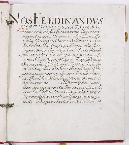 Traité de paix de Münster 1 sur 97 - Archives Nationales - AE-I-1-11