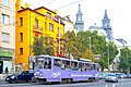 Tram in Sofia near Macedonia place 2012 PD 042.jpg