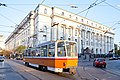 Tram in Sofia near Palace of Justice 2012 PD 049.jpg