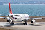 TransAsia Airways ,GE601 ,Airbus A330-343 ,B-22102 ,Departed to Taipei ,Kansai Airport (16776221396).jpg
