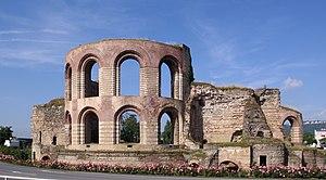 Trier Imperial Baths - Image: Trier Kaiserthermen BW 4