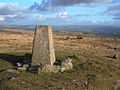 Trig Pillar on Knowl Moor above Norden - geograph.org.uk - 124453.jpg