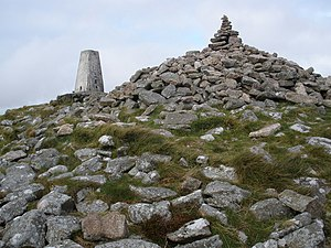 Brown Willy - Brown Willy Summit (North) Cairn with Ordnance Survey triangulation station