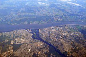 Trois-Rivières - Trois-Rivières aerial view.