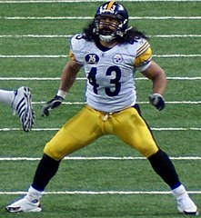 Polamalu w barwach Pittsburgh Steelers