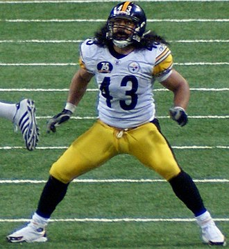 2003 NFL Draft - Image: Troy Polamalu vs Rams Dec 20 07