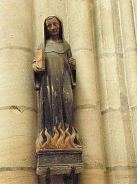 Troyes (10) Basilique Saint-Urbain Statue de Saint-Odilon.jpg