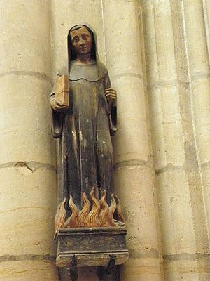 Odilo of Cluny - Statue of St. Odilo of Cluny in Basilica of St. Urban, Troyes, France.