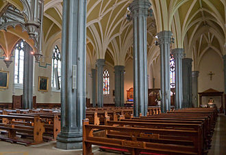 Cathedral of the Assumption of the Blessed Virgin Mary, Tuam - Image: Tuam Cathedral of the Assumption South Aisle and Nave 2009 09 14