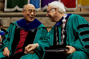 Scott Cowen - Cowen with the 14th Dalai Lama at Tulane Commencement 2013