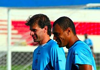 Denílson de Oliveira Araújo - Denilson (right) with Túlio in 2009