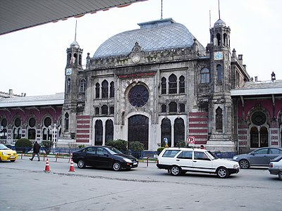 The distinctly oriental Sirkeci Station, which has welcomed passengers from Europe to the city on the edge of Asia since 1890...