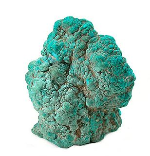 Turquoise Opaque, blue-to-green mineral: hydrous phosphate of copper and aluminium
