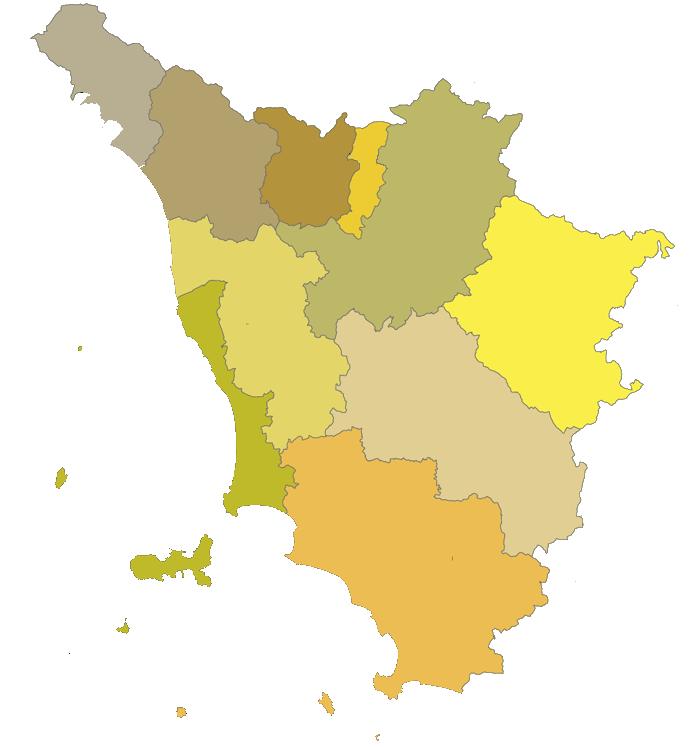 Tuscany Provinces Blank