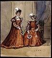 Två kvinnor i Historiska dräkter 1560. Fritz von Dardel - Nordiska Museet - NMA.0037685.jpg