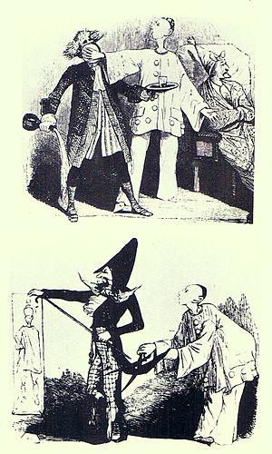 Jean-Gaspard Deburau - Image: Two Caricatures of J. G. Deburau