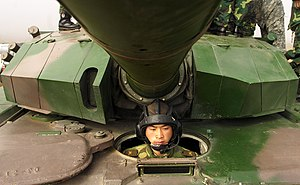 Type 99 tank - Type 99G MBT driver's position