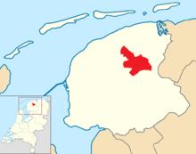 Tytsjerksteradiel location map municipality NL.png