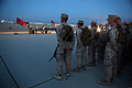 U.S. Marines with Combat Logistics Regiment 2, 2nd Marine Logistics Group, pay tribute to victims of September 11th during Enhanced Mojave Viper (EMV), on Marine Corps Air Ground Combat Center Twentynine Palms 120911-M-KS710-013.jpg