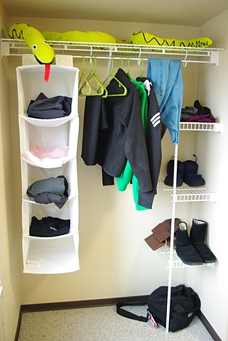 Reorganize your closet to manage COPD symptoms.