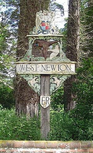 West Newton, Norfolk - The village sign