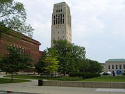 Hill Auditorium, Burton Tower, and the Rackham Building