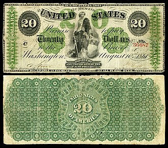 Demand Note - Image: US $20 DN 1861 Fr.12
