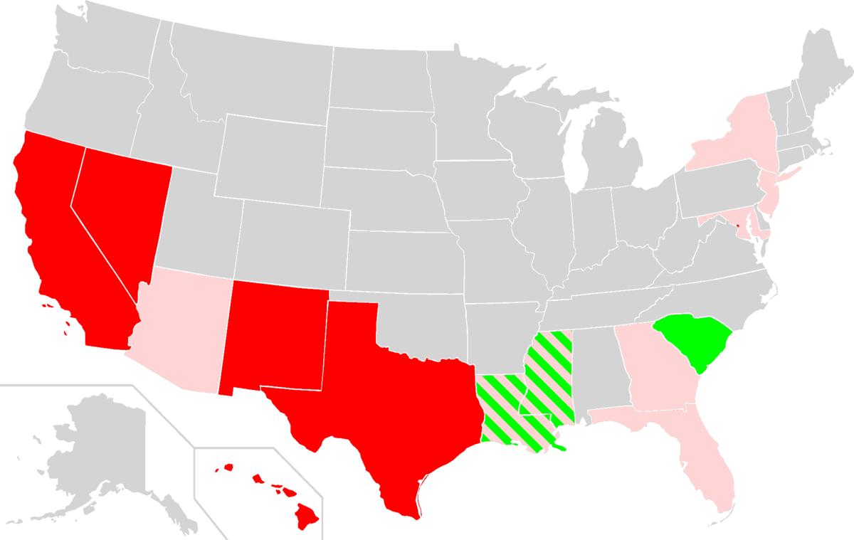 MajorityMinorityState Wikipedia - Map majority minority us
