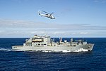 USNS Cesar Chavez (T-AKE-14) survoje en decembro 2014.JPG