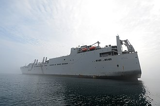United States Transportation Command - The Military Sealift Command large, medium-speed roll-on/roll-off ship USNS Red Cloud (T-AKR 313) participates in Combined Joint Logistics Over-the-Shore (CJLOTS) 2015 at Anmyeon Beach, Republic of Korea.
