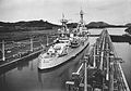 USS Houston (CA-30) in Panama Canal lock in the 1930s.jpg