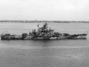 USS Indiana (BB-58) - USS Indiana while on trials, 8 September 1942