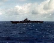 USS Lexington (CV-16) underway at sea in November 1943 (80-G-K-102)
