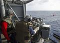USS Peleliu crew-served weapons gun shoot during PHIBLEX 15 141009-N-HU377-171.jpg