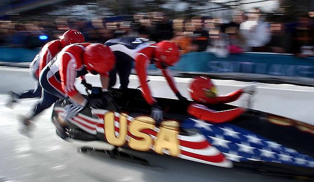 Bobsleigh race picture