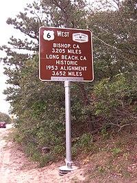 Westbound signage