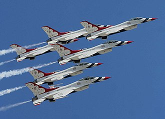 57th Wing - The USAF Thunderbirds at the dedication of the United States Air Force Memorial 14 October 2006